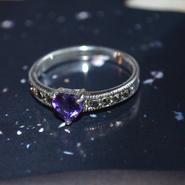 heart moon. amethyst